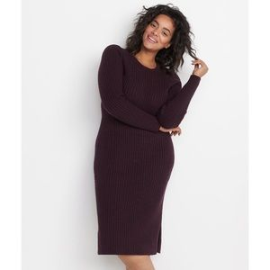 MARINE LAYER Marnie Ribbed Midi Sweater Dress L